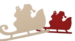 Filz-Motiv Weihnachtsmann