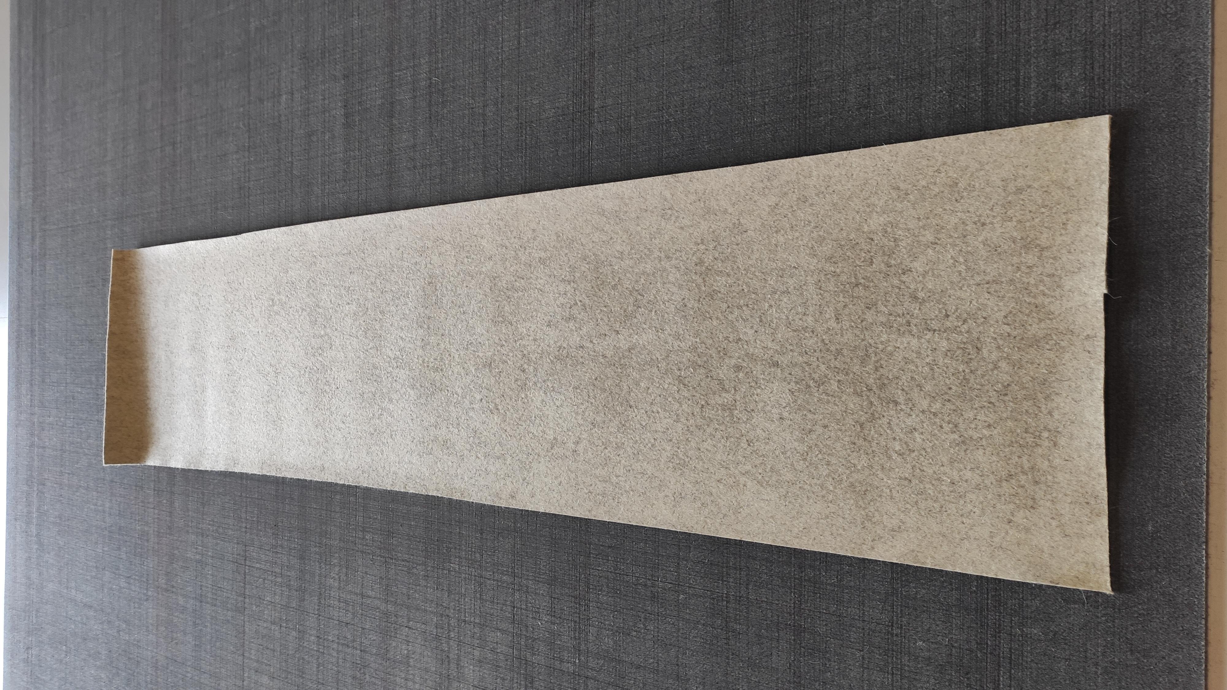 Filzrest 2 mm, beige-meliert 160, ca. 149x35 cm